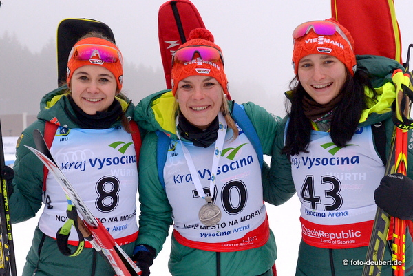 Marina Sauter, Hanna Kebinger und Juliane Frühwirt