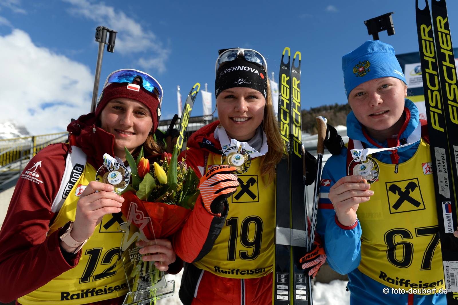 Joanna Jakiela (POL), Anna Gandler (AUT), Amina Ivanova (RUS) - Foto: © Harald Deubert