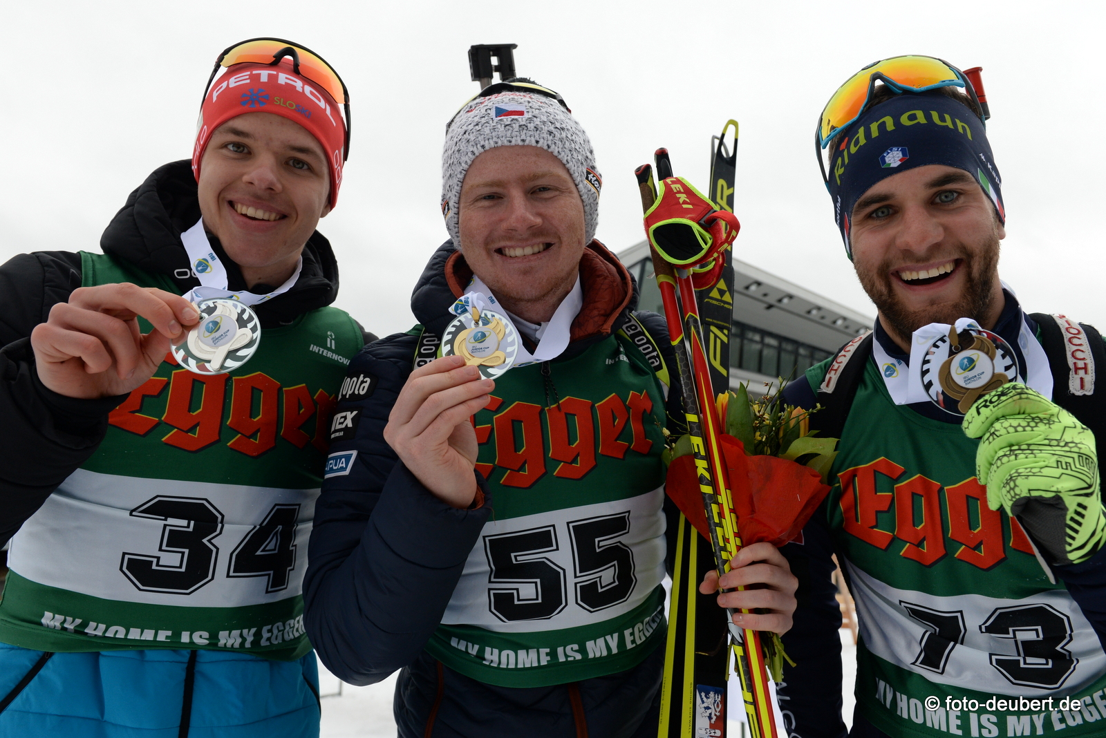 Alex Cisar (SLO), Vitzezslav Hornig (CZE), Patrick Braunhofer (ITA) - Foto: © Harald Deubert