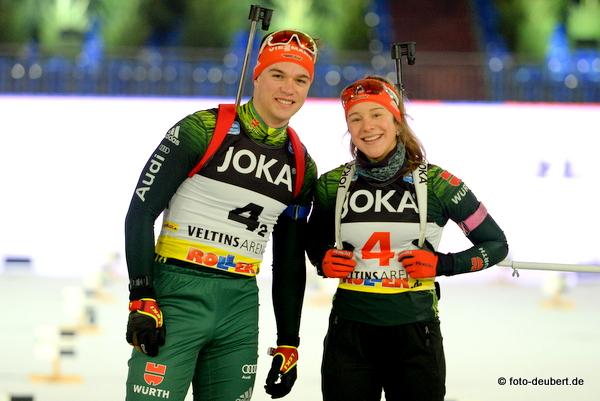 Max Barchewitz und Sophia Schneider - German Team Challenge auf Schalke