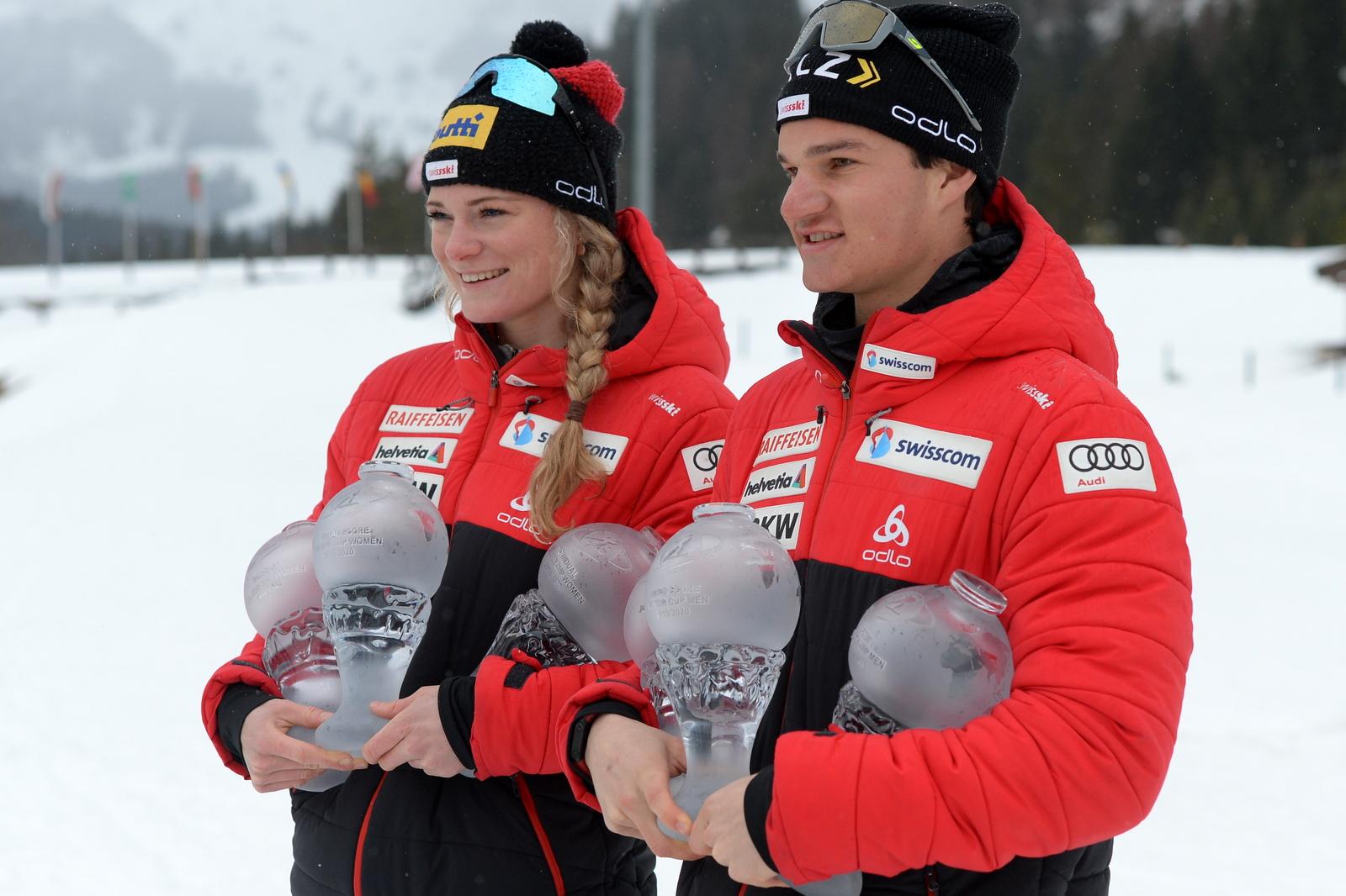 Amy Baserga (SUI) und Niklas Hartweg (SUI) - Foto: © Harald Deubert