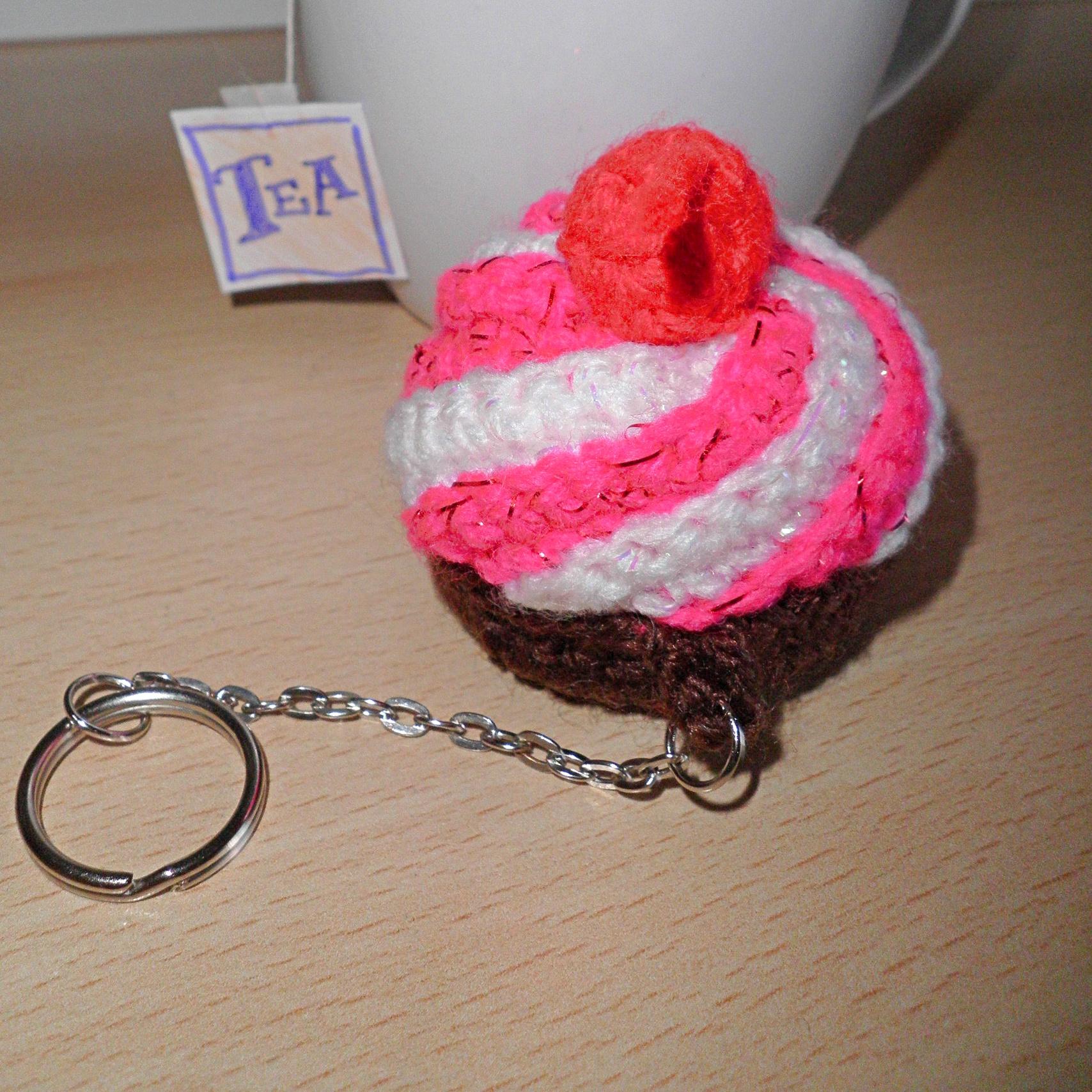 Portachiavi Cupcake Bottoni E Filati Handmade