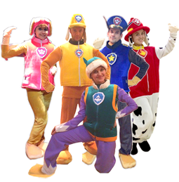 Аниматоры Щенячий Патруль Гонщик Чейз и Скай на детский праздник и день рождения ребенка
