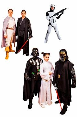 Аниматоры Звёздные войны: аниматоры Дарт Вейдер, Люк Скайуокер и Принцесса Лея на детский праздник и день рождения ребенка