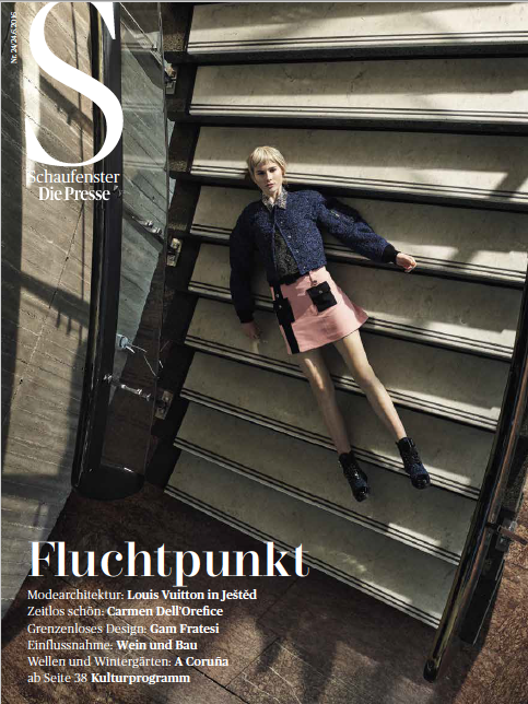 """raumfahrt"" presse schaufenster - photographer: mark glassner - stylist: barbara zach - makeup & hair: anie lamm-siu"