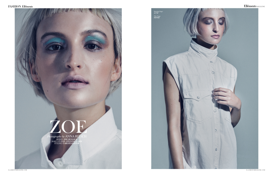 """zoe"" for ellements magazine - photography: anna rtisch - hair & makeup: anie lamm-siu - model: zoe"
