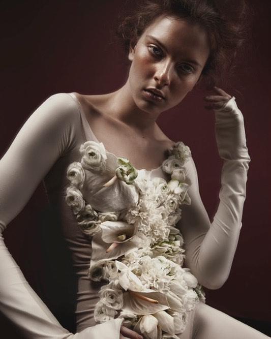 """not your bride"" - photographer: alice berg - makeup: anie lamm-siu - flowers: maria tyushkevich - model: bernadette vidacs"