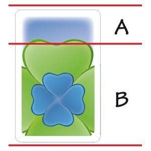 Picture 1: A = the field, B = the clover