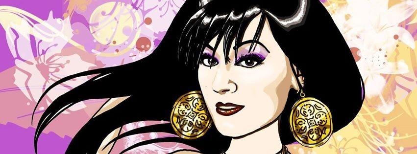 Portrait-Illustration nach Foto (Ausschnitt) mit Hintergrund 90,-