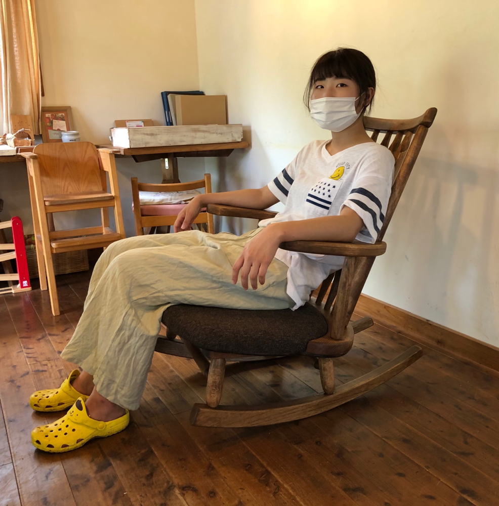 岐阜県 加茂郡 川辺町 家具工房ウッドスケッチ ゆらゆら座椅子デラックス ロッキングチェアー 胡坐椅子 揺れる椅子