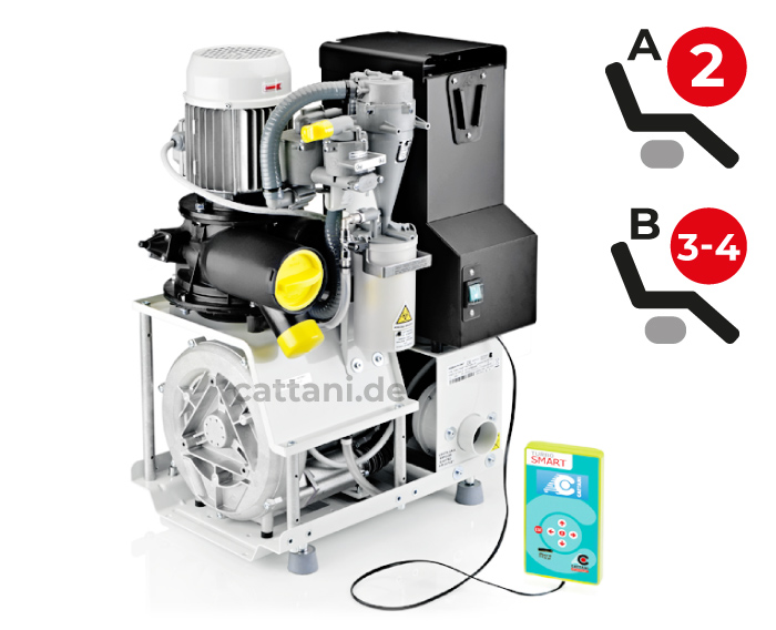 Cattani - Dental-Absauganlagen - Turbo-Smart - offen