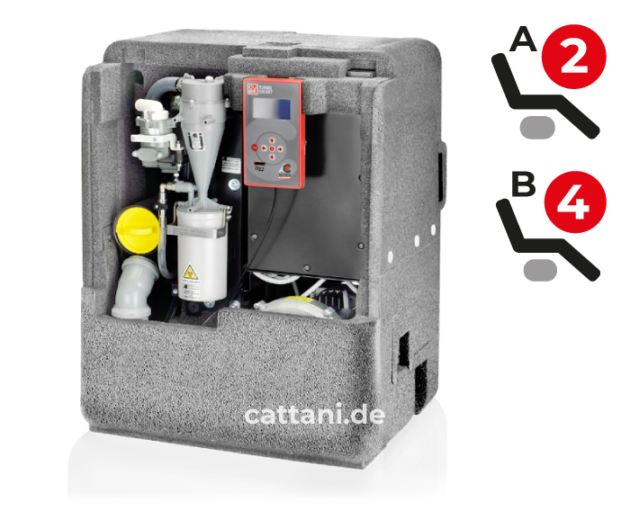 Cattani - Dental-Absauganlagen - Turbo-Smart Cube - offen