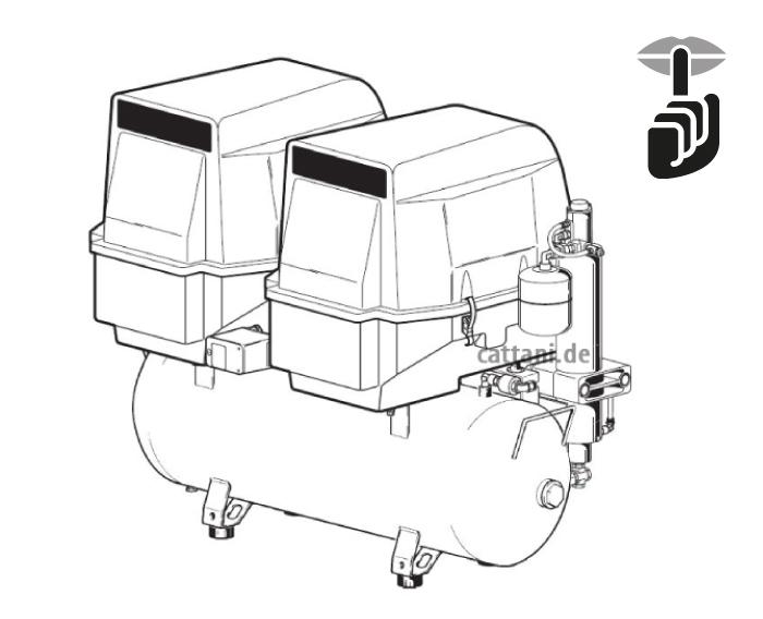 Cattani - 2-Zylinder-Tandem-Kompressor mit Haube