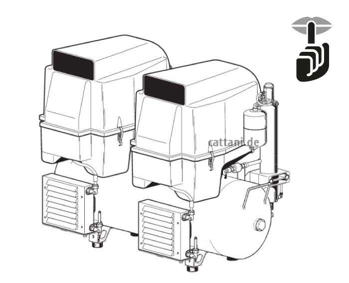 Cattani - 3-Zylinder-Tandem-Kompressor mit Schallschutzhaube