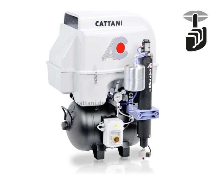Cattani - 3-Zylinder-Kompressor mit Schallschutzhaube