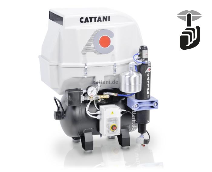 Cattani - 2-Zylinder-Kompressor mit Haube