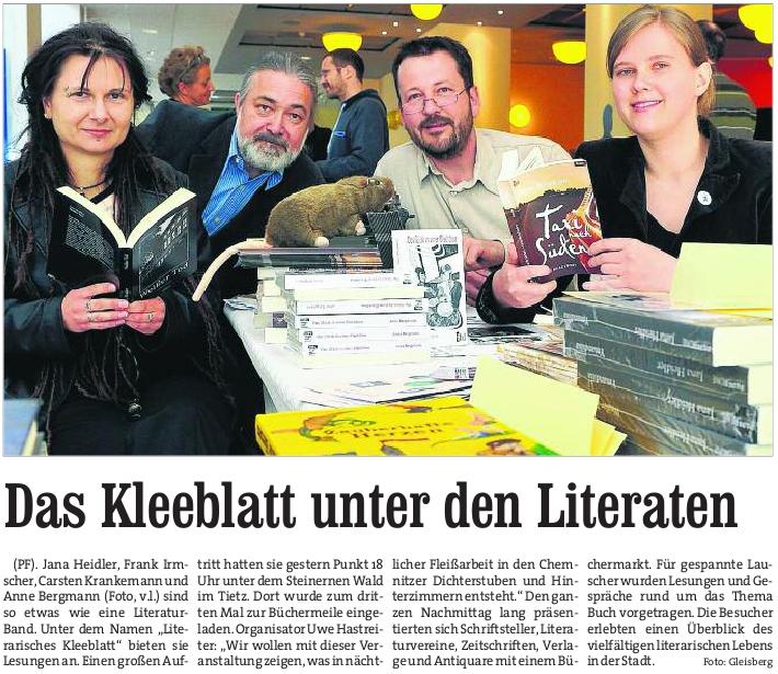 BLICK, Chemnitz, Ausgabe 17. April 2011 http://www.blick.de