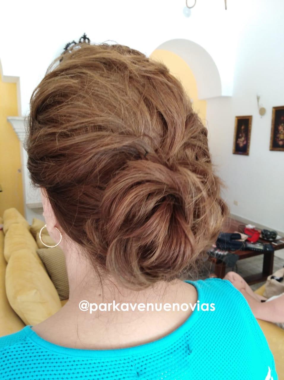 Peinado recogido para boda en Cuernavaca