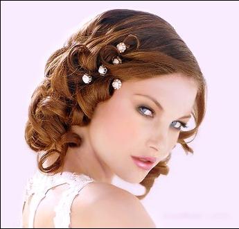Peinado de novia para Cara Corazón