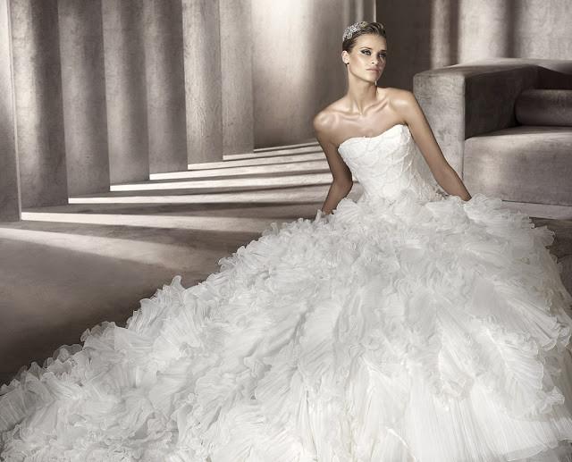 Vestido de novia pronovias corte princessa