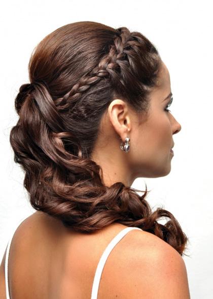 Peinados Recogido con TRenza