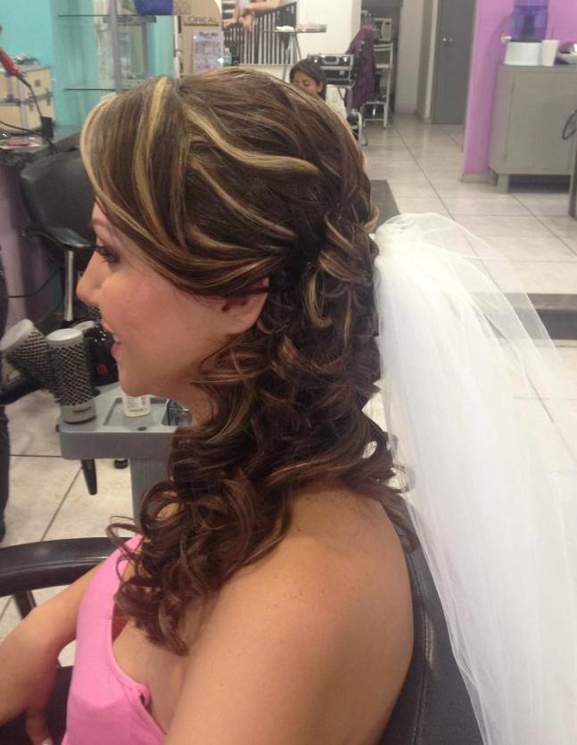 Peinado Tipo cascada para boda