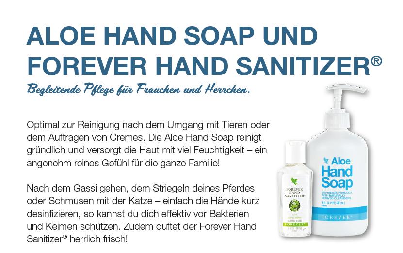Aloe Handsoap und Forvever Hand Sanitizer