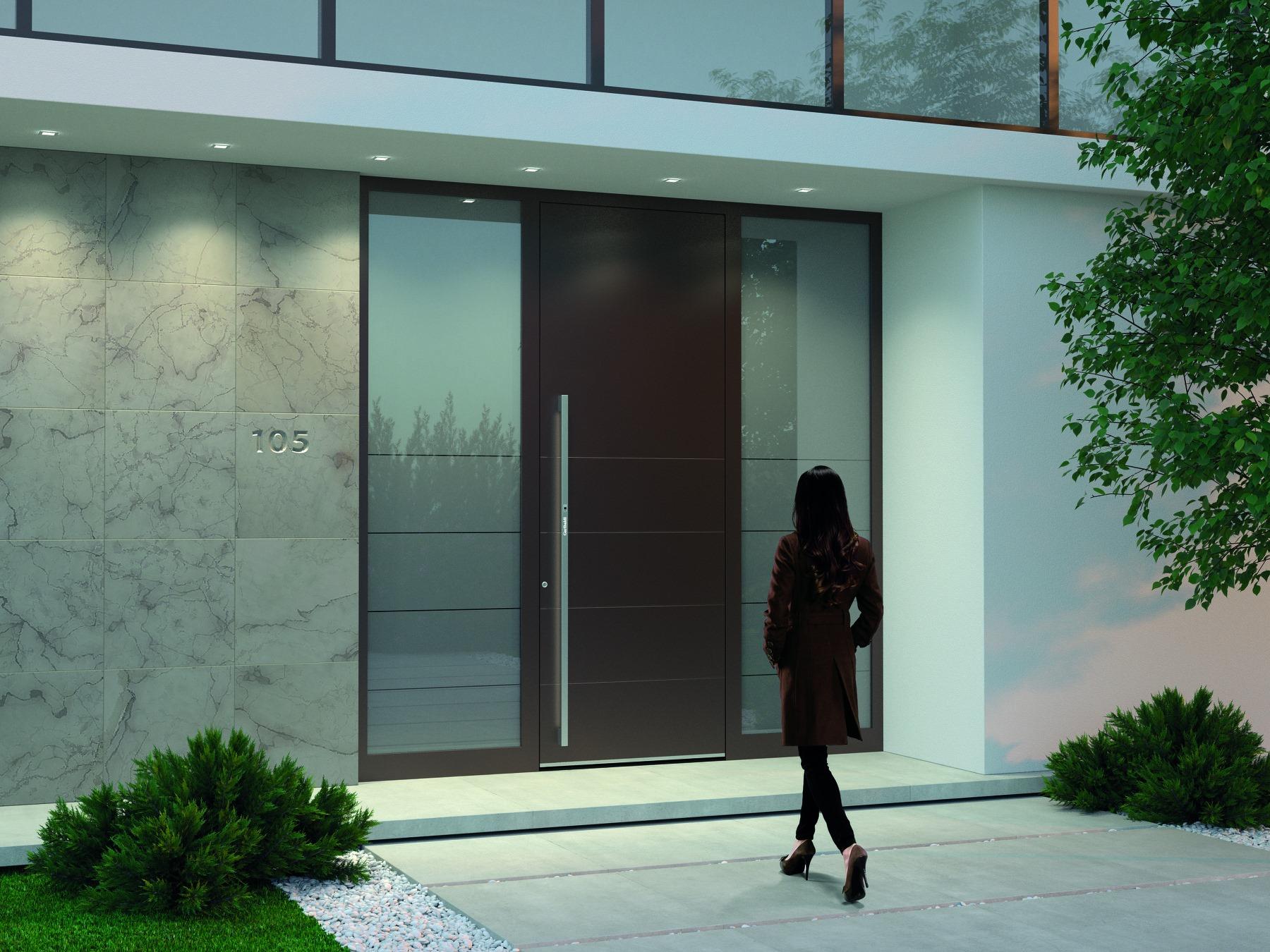 Pirnar Haustüre mit zwei Seitenteilen