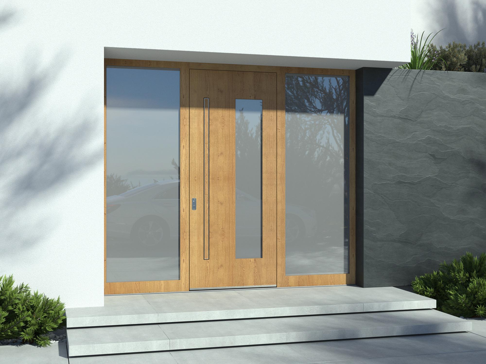 Pirnar Haustüren mit fächenbündigen Griff