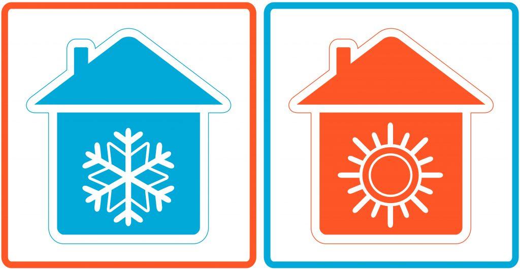 Climatizzazione caldo-freddo nella camera da letto di ciascun appartamento con regolazione autonoma. La zona living è fornita di ventilazione con pale al soffitto • Air conditioning in the main bedroom