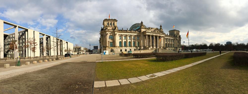 Das Reichstaggebäude ist der Sitz des deutschen Bundestages