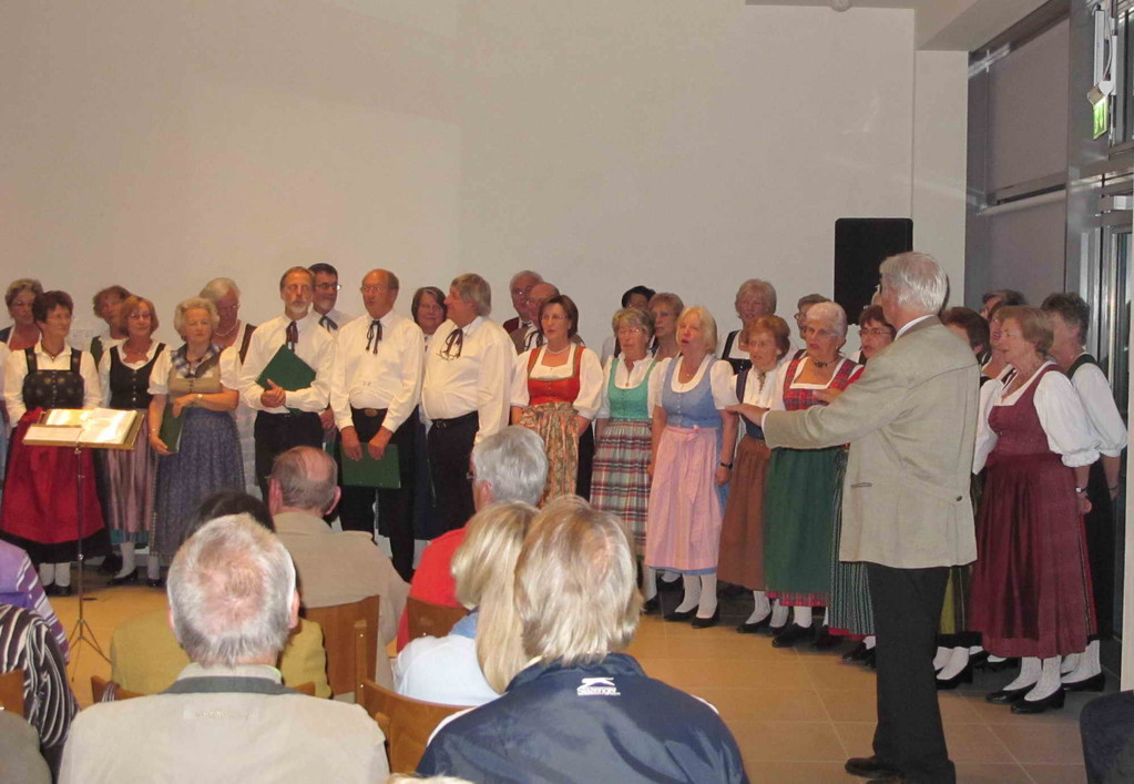 Schluss-Chor, Ltg. Karl B. Kögl