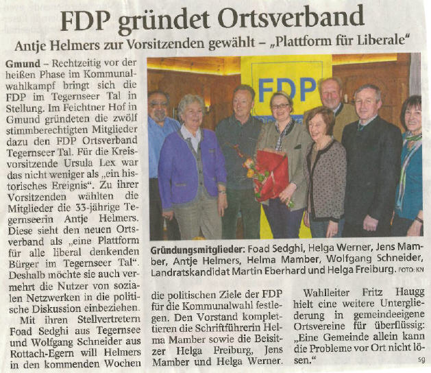 12. Februar 2014: FDP gründet Ortsverband (.jpg)