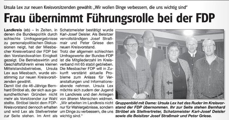 11. November 2010: Frau übernimmt Führungsrolle bei der FDP (.jpg)