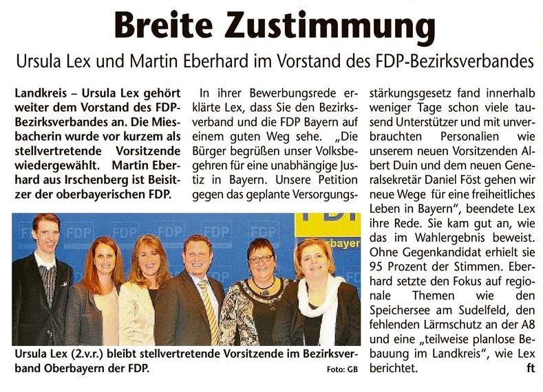 12. November 2014: Ursula Lex und Martin Eberhard im Vorstand des FDP-Bezirksverbandes (.jpg)