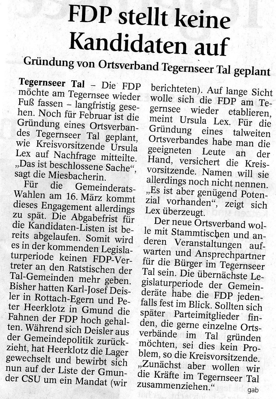 28. Januar 2014: FDP stellt keine Kandidaten auf (.jpg)