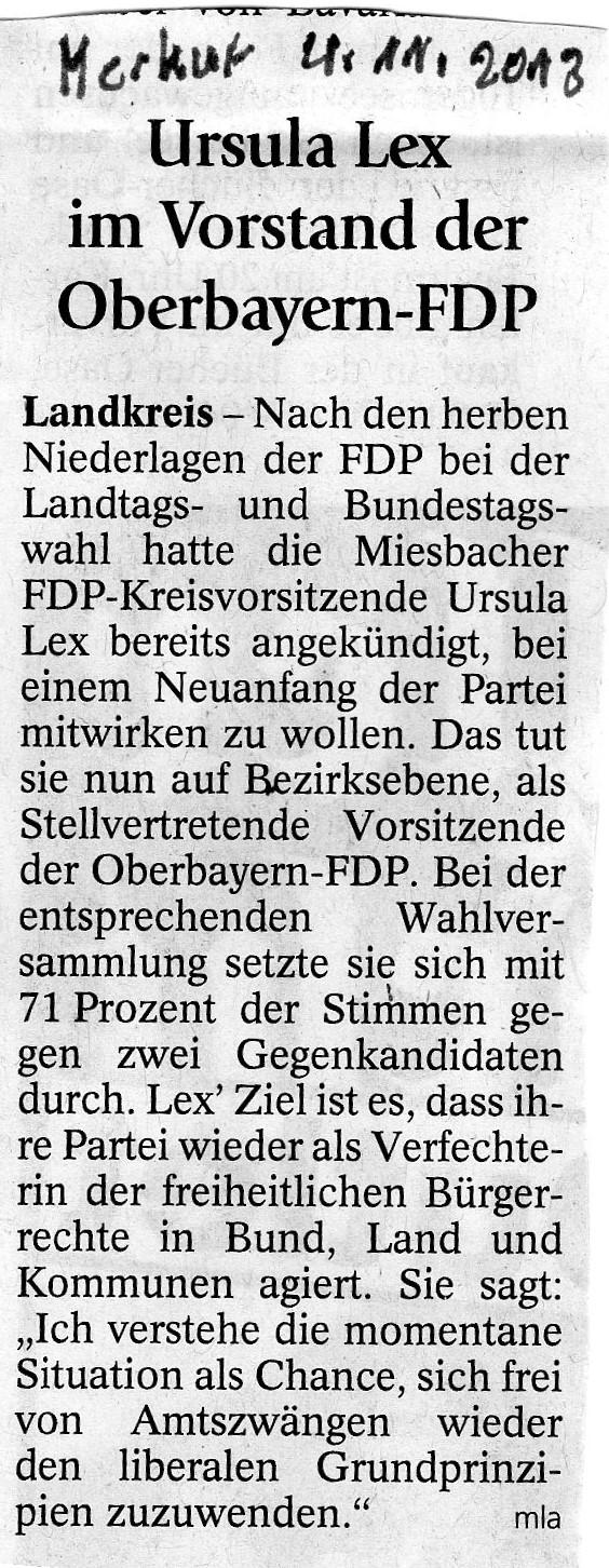 04. November 2013: Ursula Lex im Vorstand der Oberbayern-FDP (.jpg)