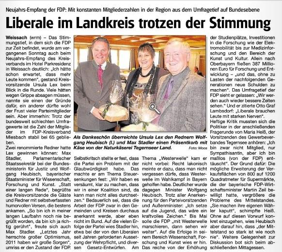15. Januar 2011: Liberale im Landkreis trotzen der Stimmung (.jpg)