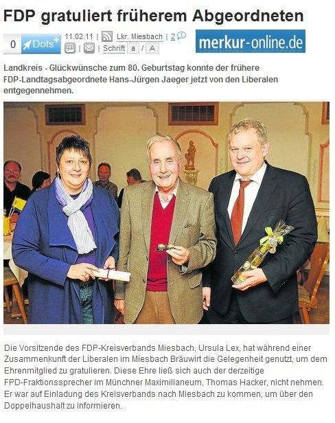 11. Februar 2011: FDP gratuliert früherem Abgeordneten (.jpg)