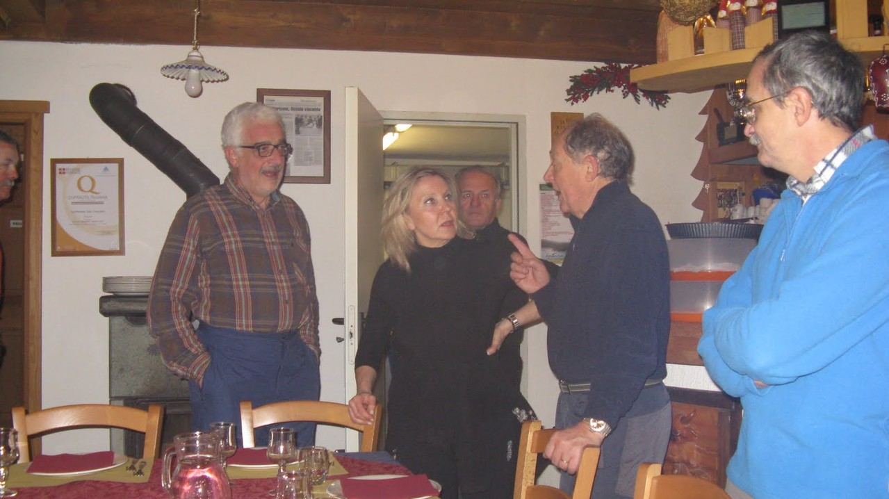 Giorgio, Barbara, Sandro, Angelo e Gianni baffo