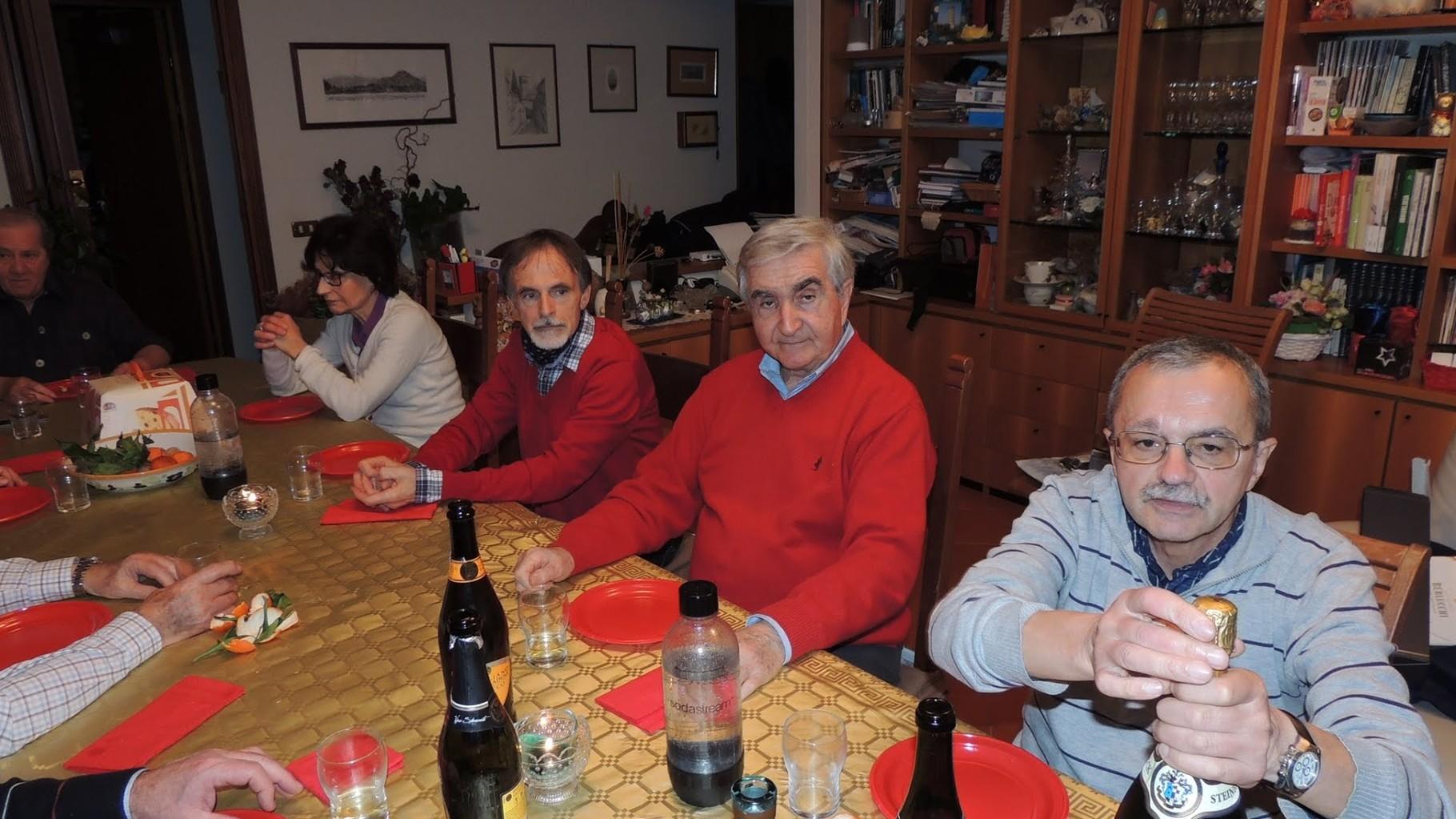 Carla, Vittorio, Roberto e Gianni baffo
