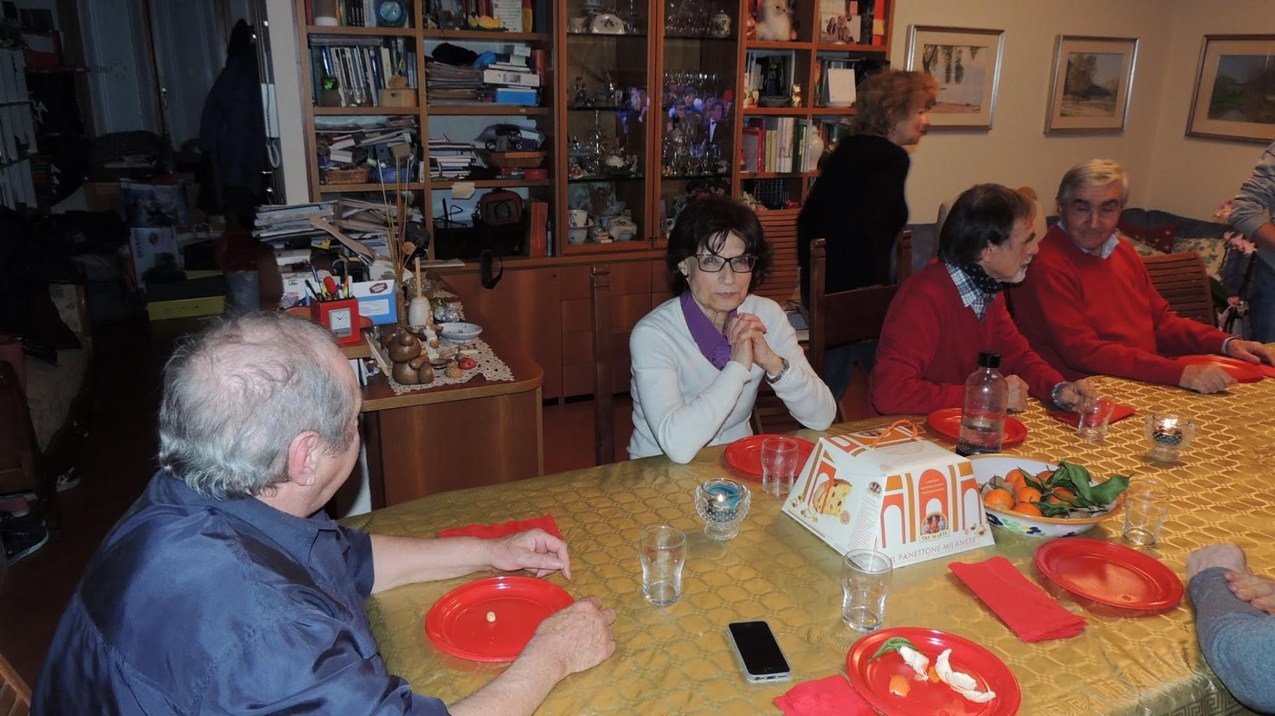 Carla, Vittorio e Roberto (in piedi Flavia)