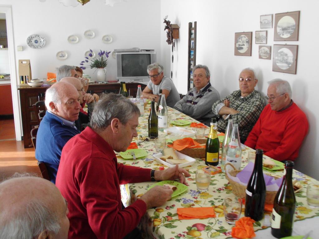 A sinistra: Giorgio e Nello, a destra: Pucci, Franco, Gabrio e Gianni