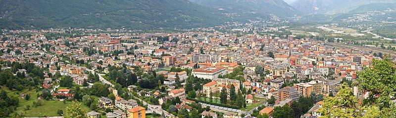 Veduta di Domodossola dal Sacro Monte Calvario