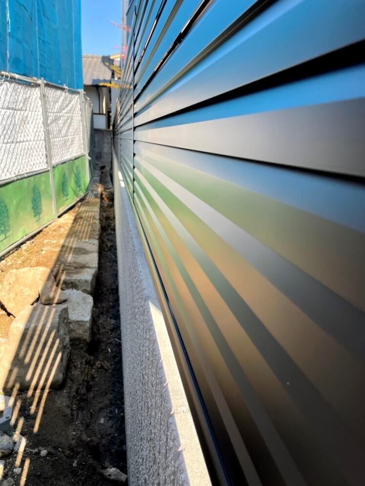 隣地境界部分 目隠しフェンス・ブロック設置工事