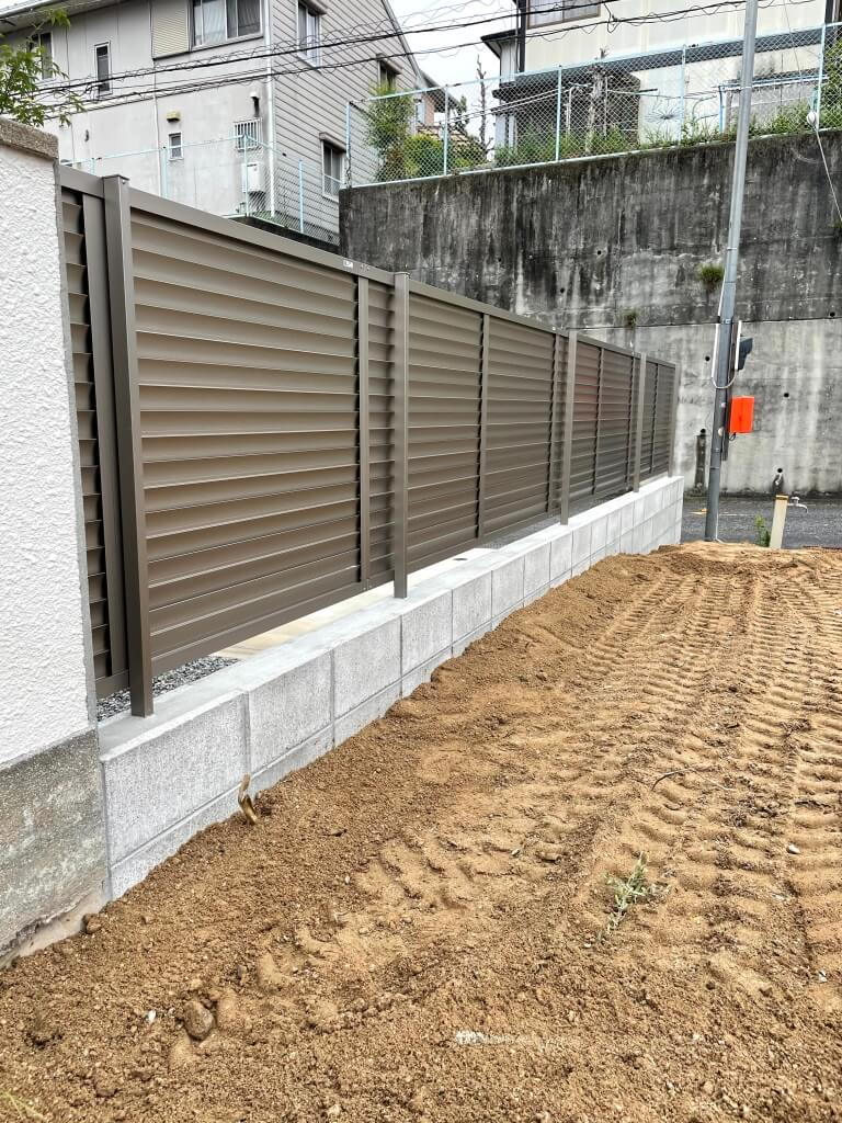 高さがあっても安全なブロック・フェンスへ交換