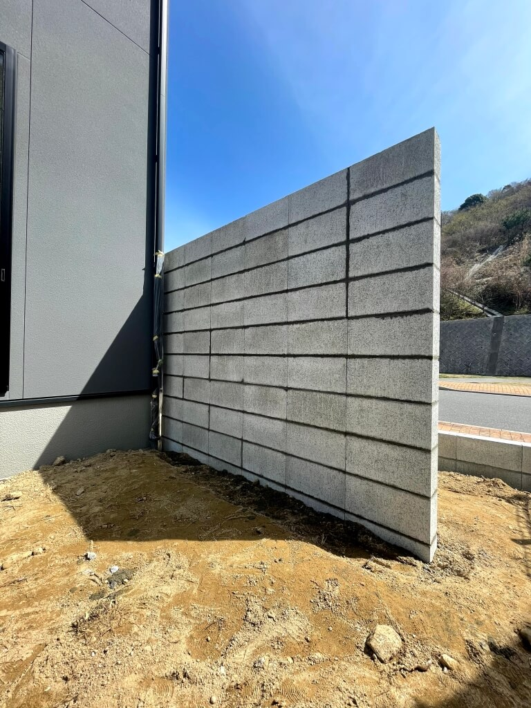 【施工中】新築外構目隠し塀下地