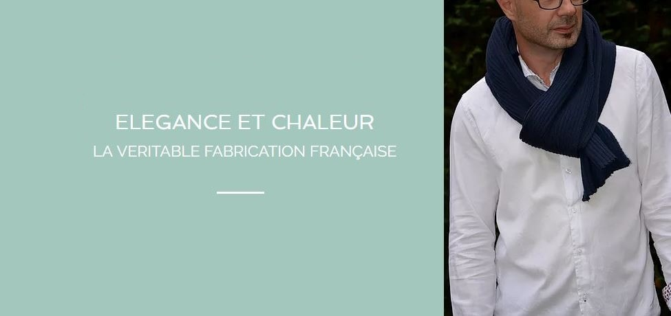 écharpe pour homme made in france