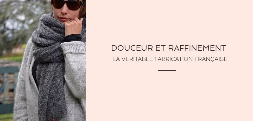 écharpe pour femme made in france