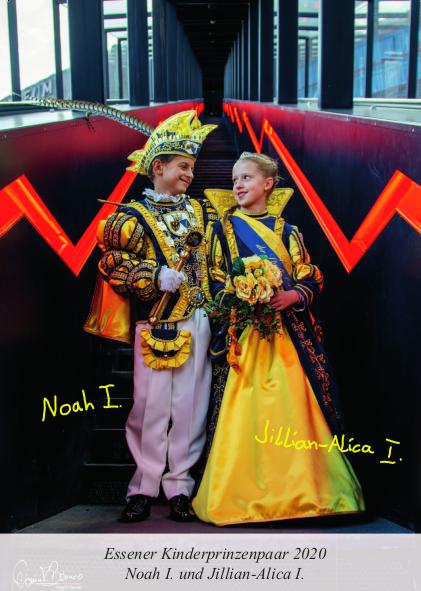 Der Kinderprinz Noah Beckmann ist 18.08.2008 in Essen geboren. Er ist schon sehr früh durch seinen Vater zum Karneval gekommen. Von klein auf hat er die Gala Sitzungen im Altenheim Hospital zum Heiligen Geist der GSE gGmbH besucht. Noah begeisterte schon
